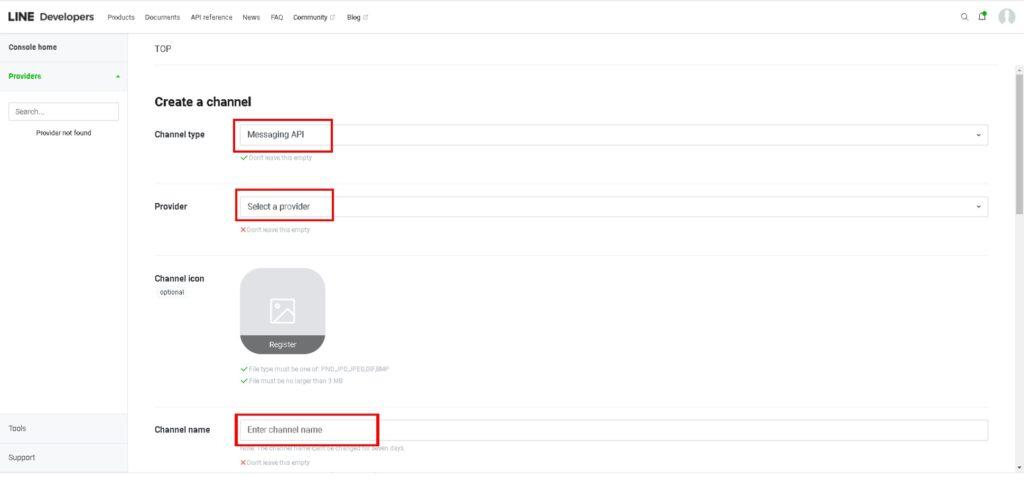Line Developerの登録方法_04